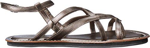 Bernardo Mujeres Cara Dress Sandal Pewter Antique Calf