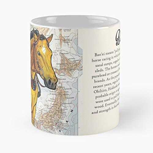 (Horse Horses Banei Draft Mugs Funny Gift)