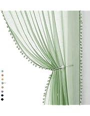 Pom Pom Sheer Curtains