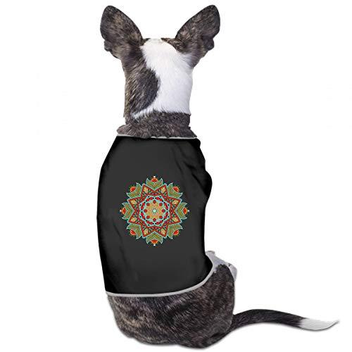 XUGGL Pet Clothing Mandala Coloring Oriental Circle Ornament Tank Top Soft Cotton Dog Clothing -
