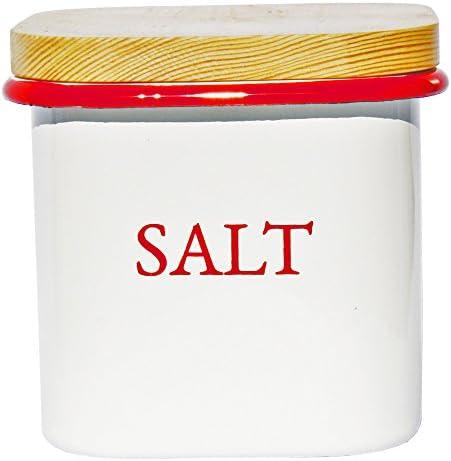 祥豊 Lilly White ホーローキューブストッカー・S 【SALT】レッド E-044S-RD
