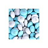 M&M's Light Blue & White Milk Chocolate Candy 5LB Bag