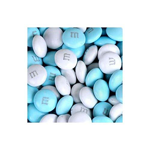 M&M's Light Blue & White Milk Chocolate Candy 5LB Bag ()