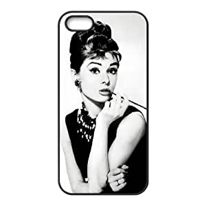 Iphone 5,5S 2D Custom Hard Back Durable Phone Case with Audrey Hepburn Image