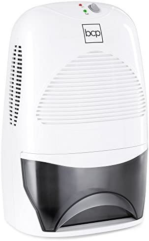 Best Choice Products Portable Mid-Size Thermo-Electric Dehumidifier for 2,200 Cubic Ft Room, Basement, RV, Bathroom w 2L 67.6oz Capacity Tank, White