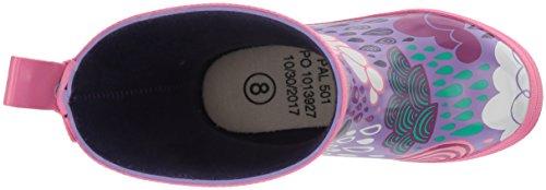 Hatley Printed Rain Boots, Mädchen Arbeits-Gummistiefel violett (Stormy Days)