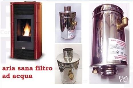 Filtro de agua abbattitore Caperuza humo y cenizas para estufa de pellets Certificado garantito nuevo modelo: Amazon.es: Hogar