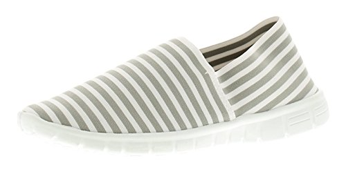 Wynsors Faith Womens Flats Grey Stripe - Grey Stripe - UK Sizes 3-8