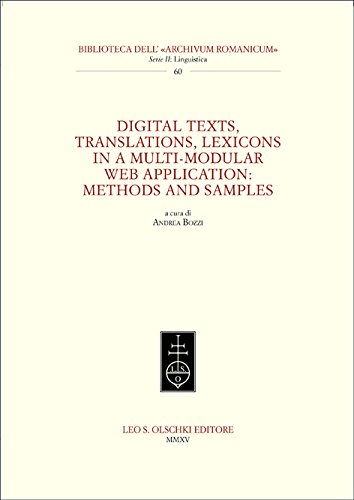Digital Texts, Translations, Lexicons in a Multi-Modular Web Application: Methods and Samples