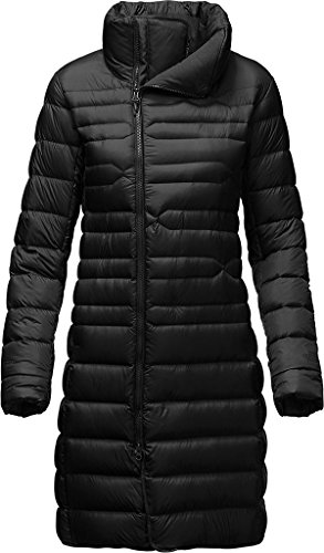 The North Face Womens Goose Down Quilted Long Coat Black - Long Face