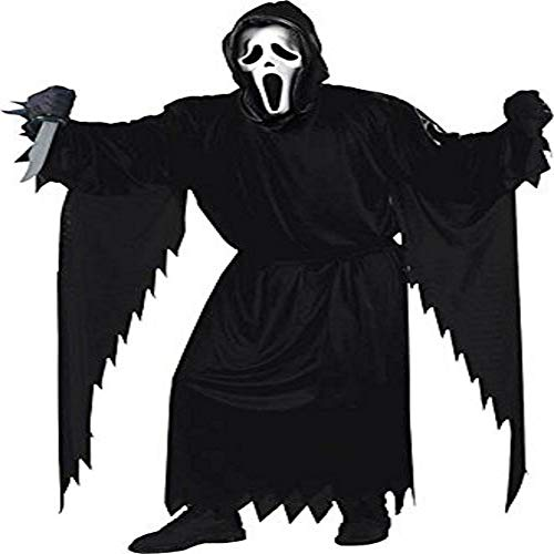 FunWorld  Adult Plus Scream Costume, Black, One Size -