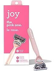 Joy Pink Womens Razor Handle + 2 Five Blade Refills