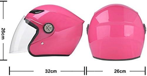 安全装置 ヘルメットヘルメットアンチフォグオートバイの男性と女性の電気自動車夏日の保護UV四季ユニバーサル 個人用保護具 (色 : D)