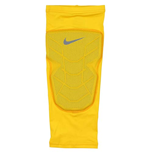 the best attitude 30a85 087f6 Nike Mens Pro Combat Hyperstrong Padded Basketball Knee Sleeve Large  Yellow Gray