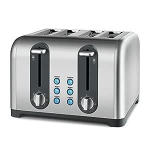 Kambrook Profile Toaster, 4-Slice, Brushed Stainless Steel KT460