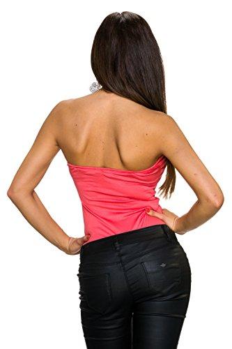 Emma & Giovanni - Camiseta sin mangas - Básico - Sin mangas - para mujer Coral