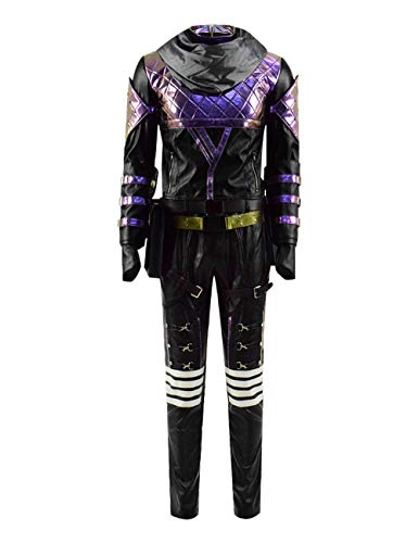 Jinlan Adult Game Apex Halloween with Hood Cosplay Party Dress Costumes Suit (Custom-Made, Black-Purple) -