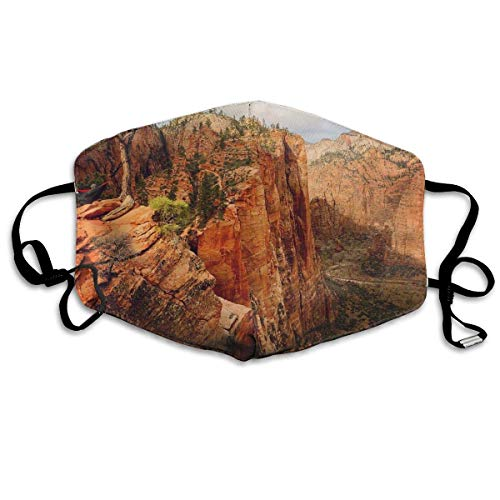 HammockLiving Angels Landing Zion National Park Utah Anti Dust Face Mouth Cover Mask Respirator Dustproof AntiBacterial Washable Reusable Masks Respirator Windproof Mask