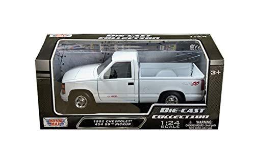 - Motormax 73203WH 1:24 W/B - 1992 Chevrolet 454 SS Pickup, White