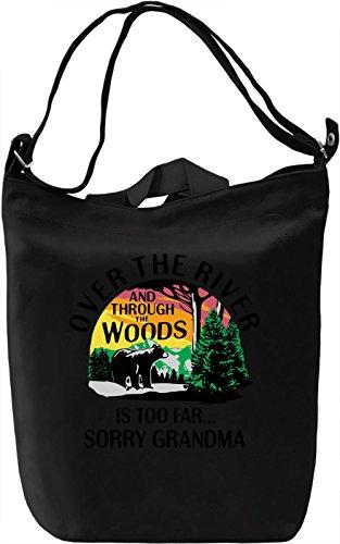 Over The River Borsa Giornaliera Canvas Canvas Day Bag| 100% Premium Cotton Canvas| DTG Printing|