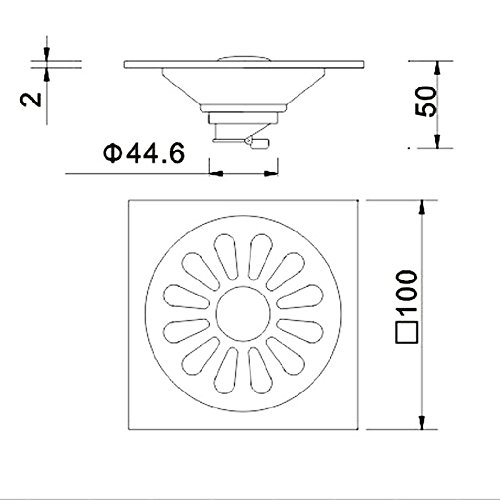 YLHM Floor drain - stainless steel odor core in bath and thickened square washing machine
