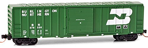 Micro-Trains MTL N-Scale 50ft Rib Side SD Box Car Burlington Northern BN #376336 (50' Rib Side Boxcar)