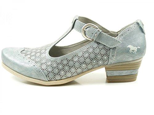 Mustang 1187-205 Zapatos de tacón de material sintético mujer Blau