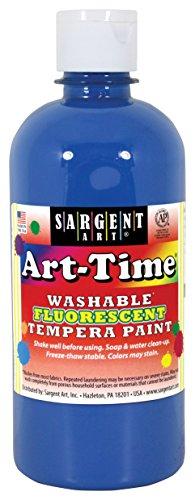 - Sargent Art 17-4750 Art-Time 16oz Blue Washable Fluorescent Tempera Paint