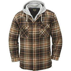 Gravel Gear Sherpa Lined Hooded Flannel Shirt Jacket