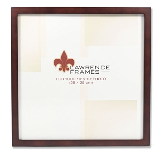 Lawrence Frames 755910 Espresso Wood Picture Frame, 10 by 10-Inch ()