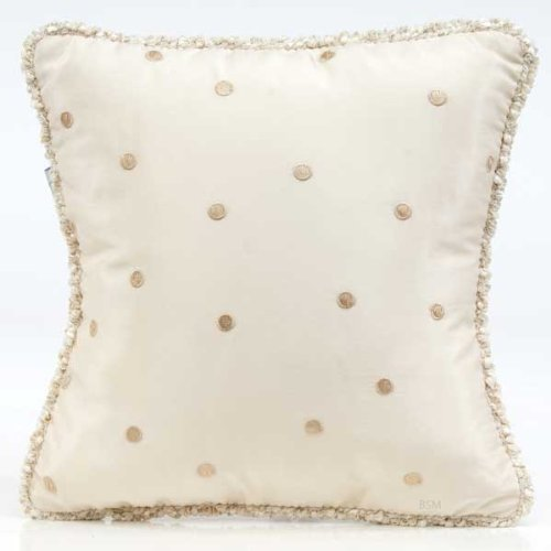 Glenna Jean Victoria Pillow with Cord, Mocha Dot