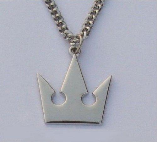 MKPLY Kingdom Hearts II Sora Roxas Crown Necklace Pendant for Cosplay