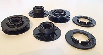 For Car 35261788292Kit de 4 sujeciones para moqueta de suelo, color negro