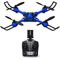 YZ i5hw RC Foldable Aircraft 6-axis Gyroscope with 0.3MP FPV WiFi Camera Real-time Image Transmission Height-fixed Remote Control Aircraft