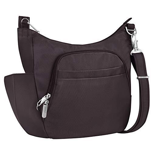 Travelon Anti-theft Classic Crossbody Bucket Bag (Aubergine-Exclusive Color)