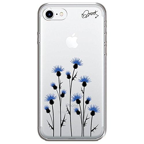 Capa Case Capinha Iphone 7 - PLANTA AZUL