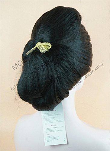 77eb6a8f1 Amazon.com : Japanese geisha wig custom courtesan danc girls Diva geisha  kimono style black wig head : Jewelry