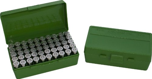 MTM 50 Round Flip-Top Ammo Box 25/32 Auto Cal (Green) (Best 32 Acp Ammo)