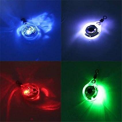 Macabolo Unterwasser Tintenfisch K/öder lockt Fisch Attraktion Lampe Fluoreszierendes Leuchten in der dunklen LED Blitz Licht leuchtende Angeln Licht