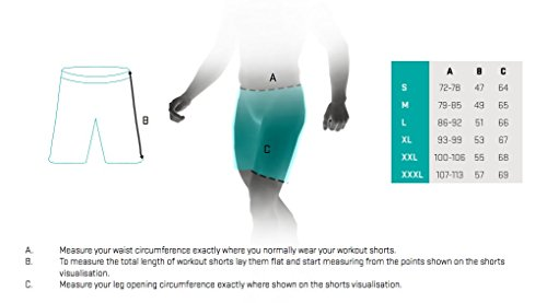 Smmash Herren Compression CrossFit Shorts MORO