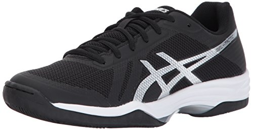 ASICS Womens Gel-Tactic 2 Volleyball Shoe, Black/Silver/White, 7.5 Medium -