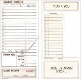 Price Buster Two Part Guest Checks 4 1/4 x 8 1/2 - Loose, 2000 Checks Per Case