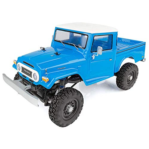 - Team Associated 40003 CR12 Toyota FJ45 Pickup Truck Ready to Run, Electric 1: 12th Scale 4WD, Brushed (Blue)