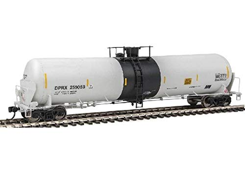 55' Trinity Modified 30,145-Gallon Tank Car - Ready to Run -- PBL Holdin Inc. DPRX #2 (white w/black band, conspicuity marks)