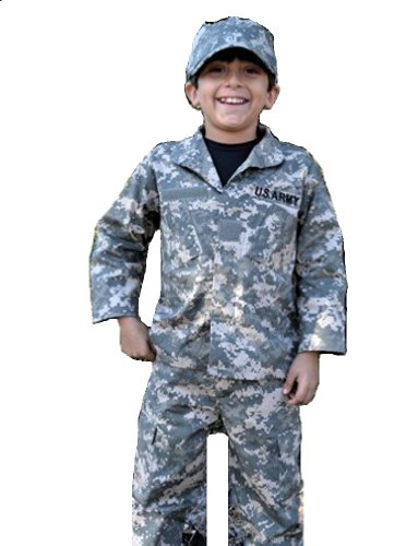 Child Youth 3 Piece Army ACU Camo Uniform Set (Medium 10-12) - Kids Military Army Uniforms