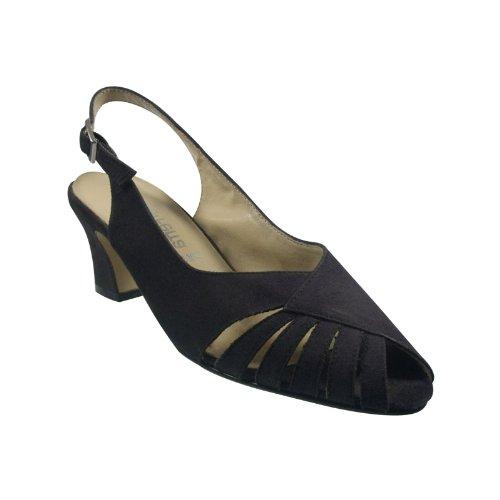 Joanna Ferra 31814-601 Damen Schuhe Premium Qualität Sandalette Schwarz (Schwarz)