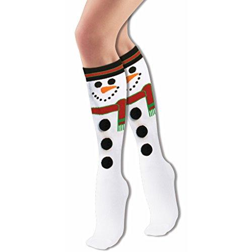 Forum Novelties Women's Adult Christmas Socks, Snowman, One Size