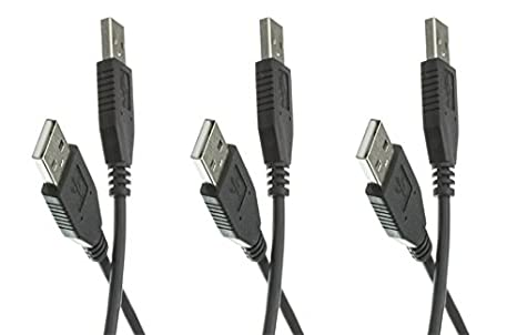 CNE462863 C/&E 5 pack 10 Feet USB 2.0 Type A Male to Type A Male Cable Black