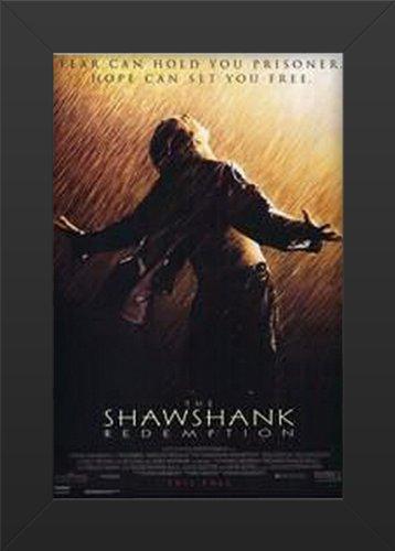 Shawshank Redemption Movie Art Print  Movie Memorabilia  11x17 Poster FRAMED, Vibrant Color, Features Tim Robbins, Morgan Freeman, Bob Gunton, William Sadler, Clancy Brown, Gil Bellows, James Whitmore.