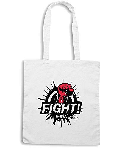 T-Shirtshock - Bolsa para la compra TAM0196 Fight-MMA-tshirt hoodie Blanco